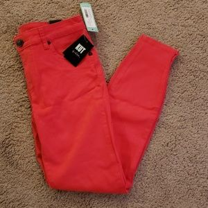 Womens Size 4 Hot Pink (Coral) Jeans
